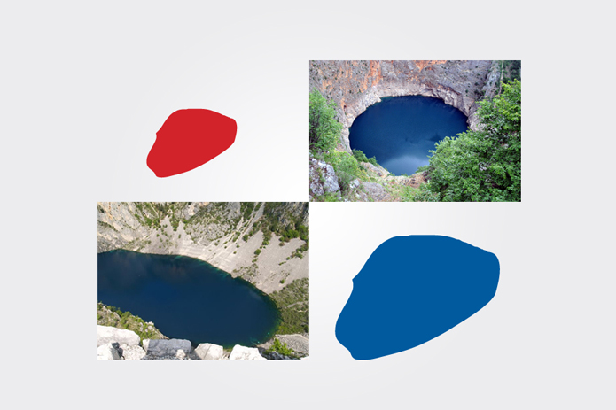 modro i crveno jezero imotski dizajn logo udruge
