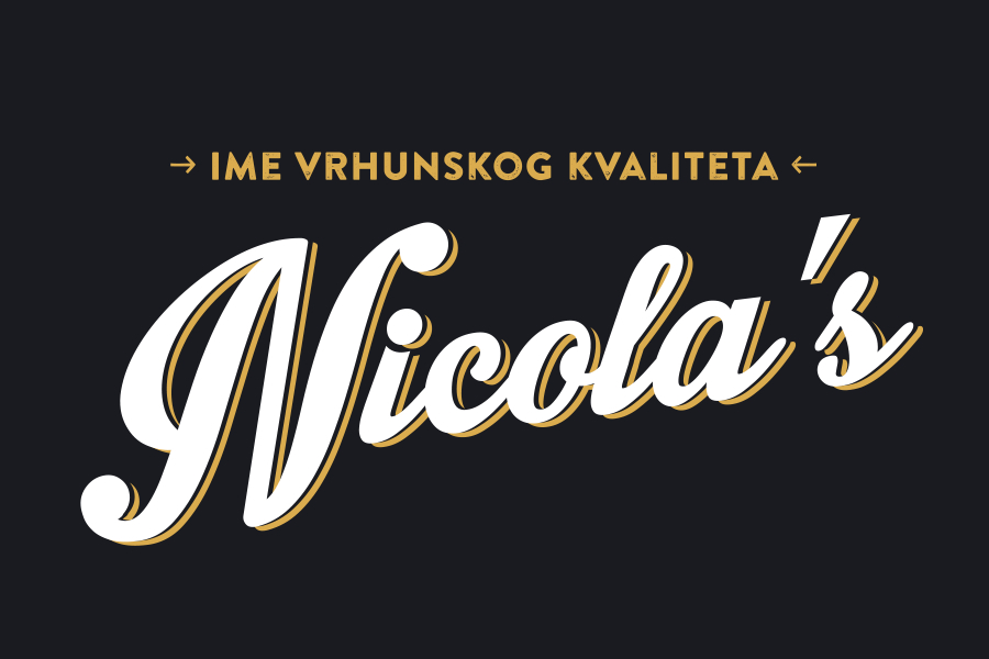 The verbal and visual identity of the brand Nicola's