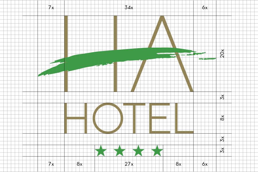 Vizualni identitet hotela HA u Mostaru logotip grafički dizajn shift