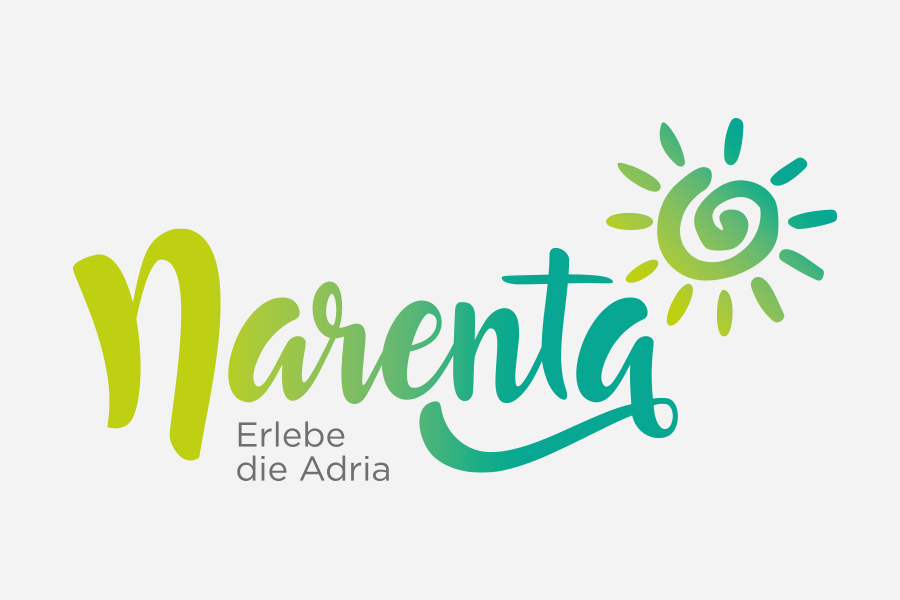 Visual identity of Narenta travel agency logo design graphic design shift creative
