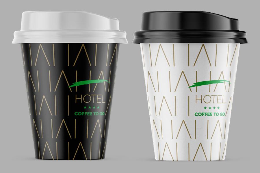 Vizualni identitet hotela HA u Mostaru čaša logotip