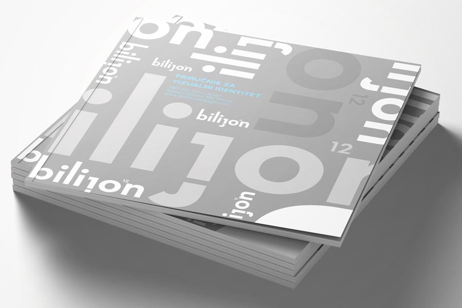 Vizualni identitet Bilijon knjiga grafičkih standarda shift