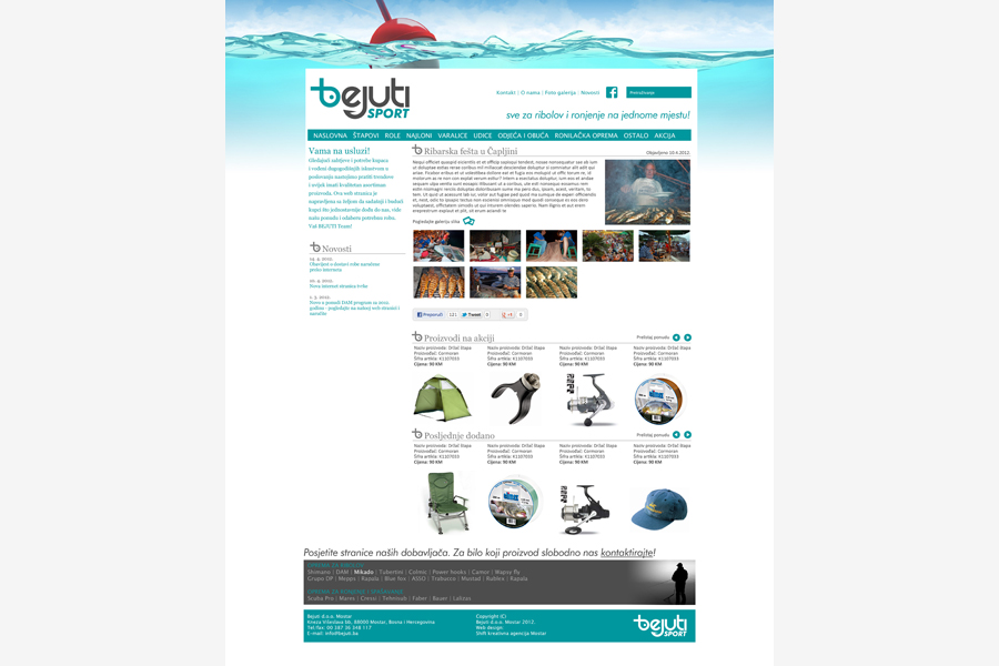 dizajn web stranice bejuti mostar shift.ba