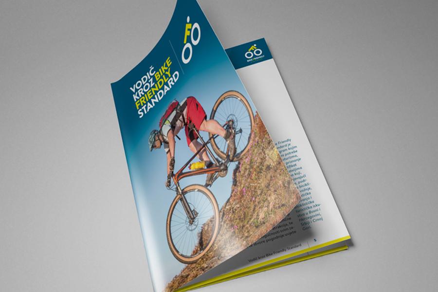 Dizajn logotipa i vizualnog identiteta Bike Friendly Standarda