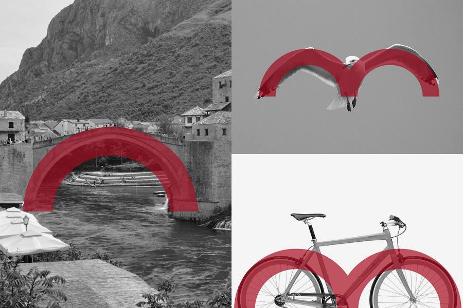 Dizajn logotipa Biciklistički klub Mostar, shift agencija