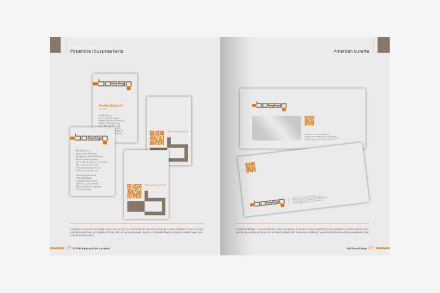 vizualni identitet Bossin dizajn kuverte memorandum