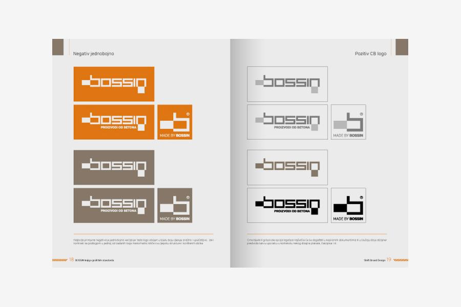 vizualni identitet Bossin shift dizajn mostar