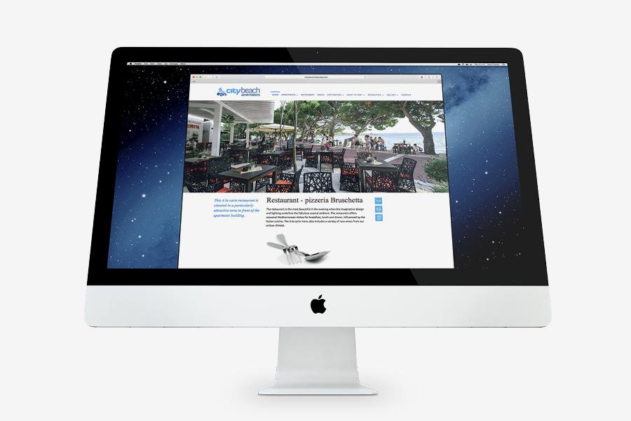 City Beach Apartments vizualni identitet i web design