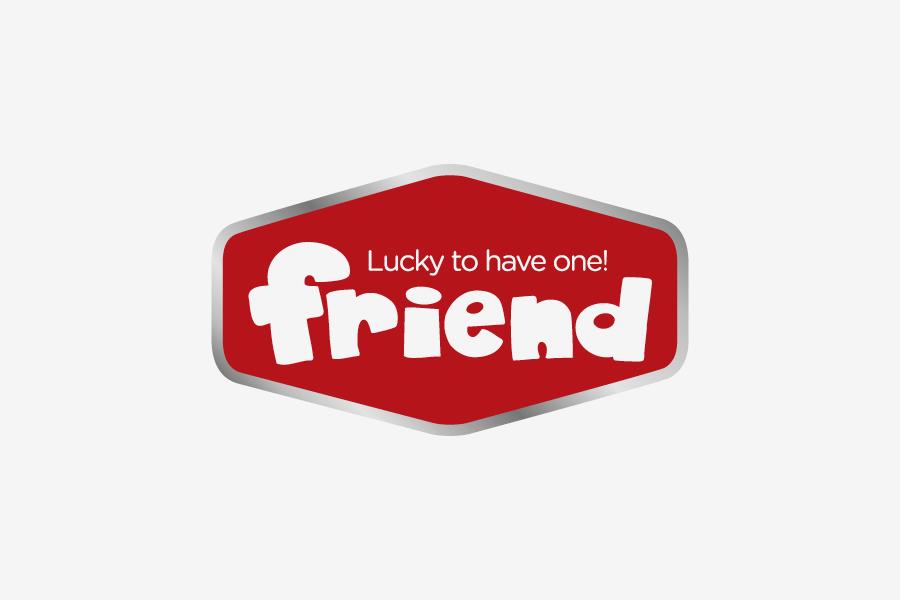 brand identitet friend logotip