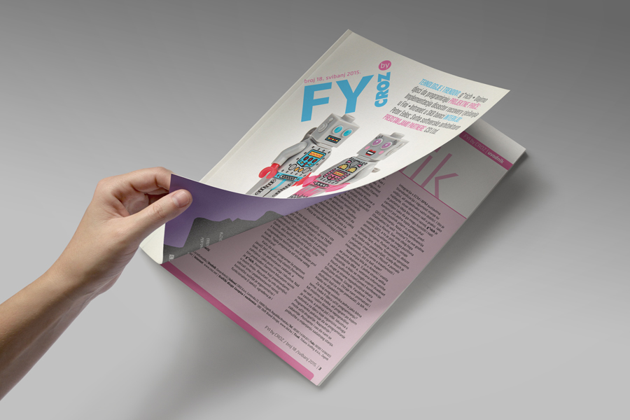 Dizajn informativnog časopisa FYI, shift agencija mostar
