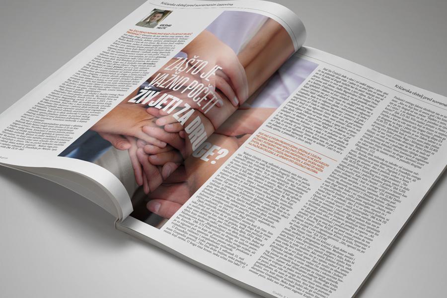 Glasnik mira dizajn časopisa, shift agencija mostar