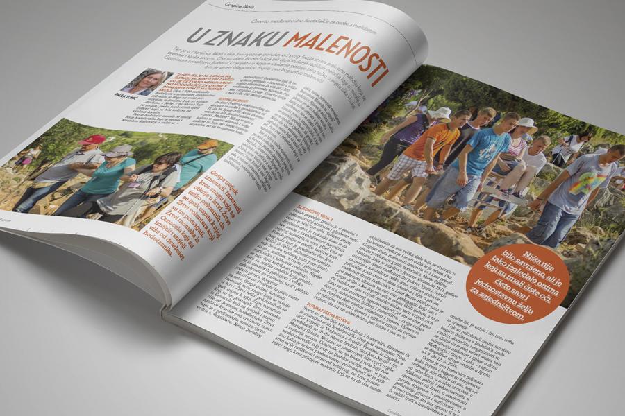 Glasnik mira dizajn časopisa, prijelom, layout