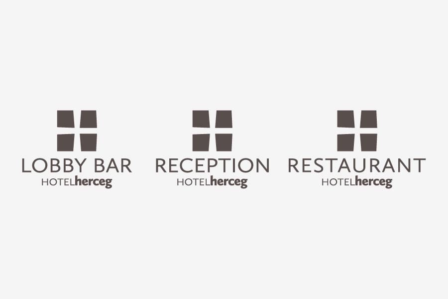 Vizualni identitet Hotel Herceg Međugorje, dizajn logotipa, shift agencija