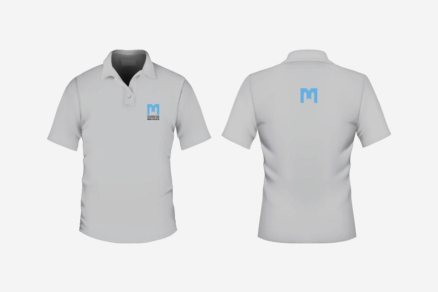 vizualni identitet informativni centar mir međugorje aplikacija logotipa na majicu
