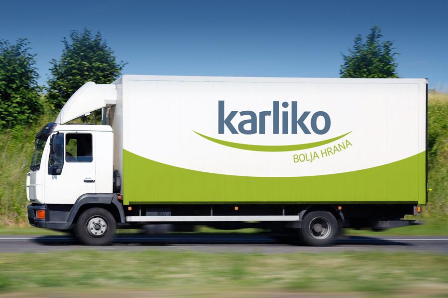 vizualni identitet karliko , dizajn logotipa, oslikavanje vozila