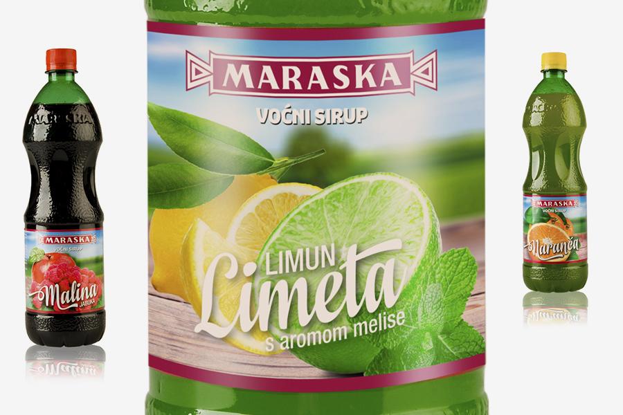dizajn etikete maraska sok