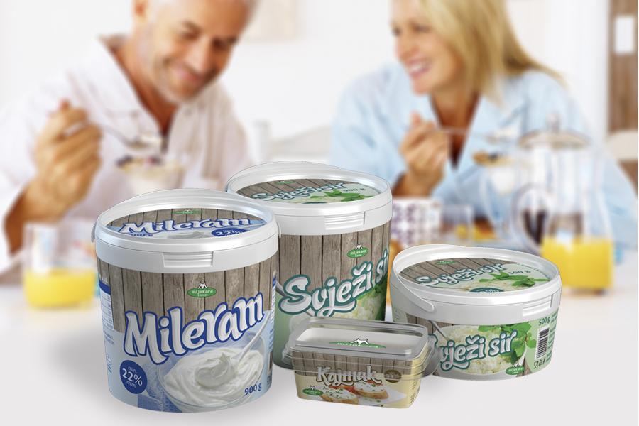 vizualni identitet kolekcije proizvoda mljekara livno