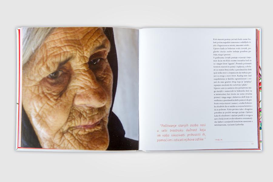 Dizajn monografije Caritasa, vjera raste po ljubavi, prijelom dizajn, shift agencija