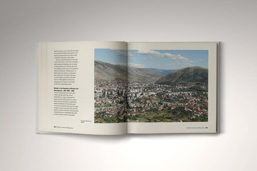 Dizajn monografije Mostar - beskrajna priča, agencija shift