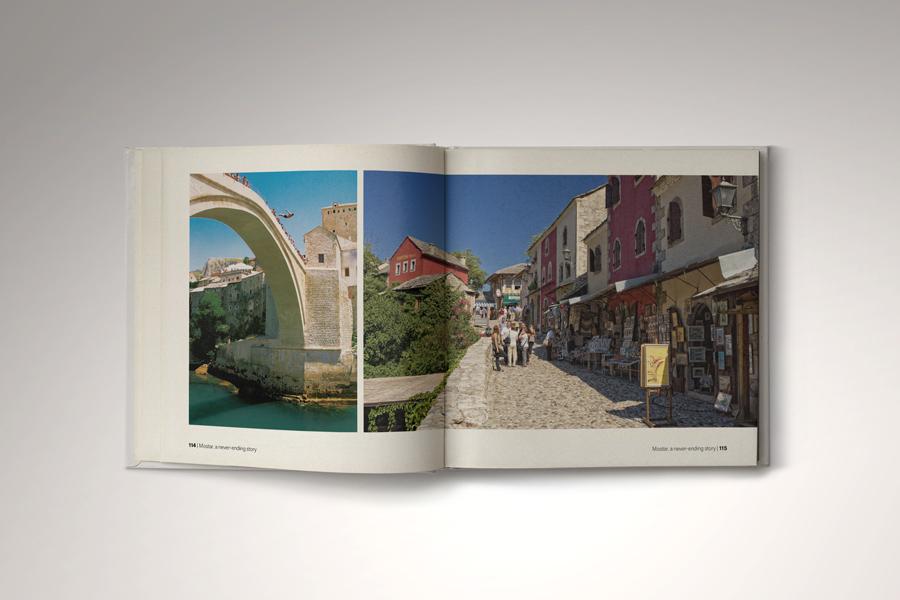 Dizajn monografije Mostar - beskrajna priča, layout, agencija shift