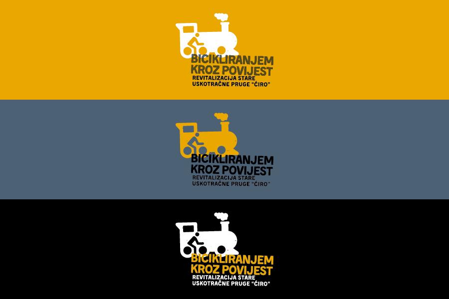 Vizualni identitet projekta Bicikliranjem kroz povijest, grafički dizajn sbd