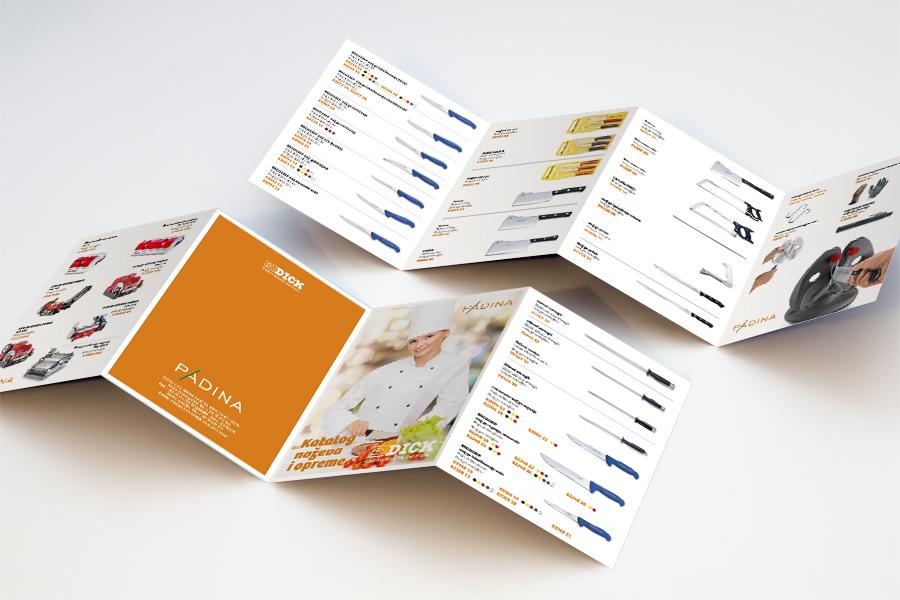 vizualni identitet padina brošura