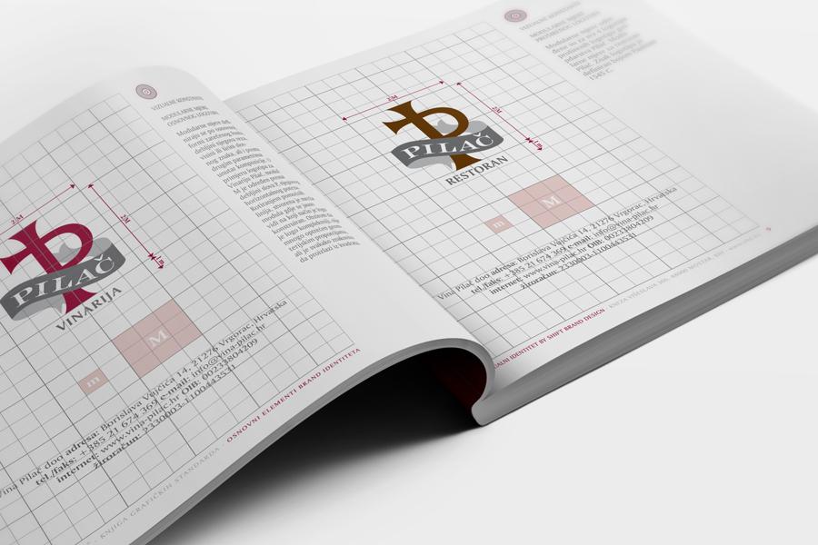 vizualni identitet knjiga grafičkih standarda vinarija pilač