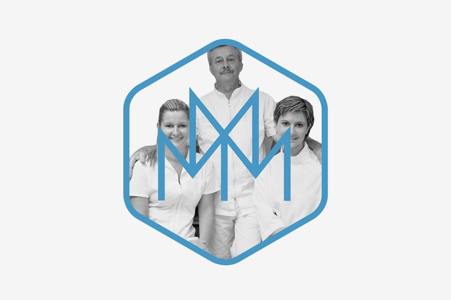 Vizualni identitet stomatološka poliklinika musa dizajn logotipa shift agencija