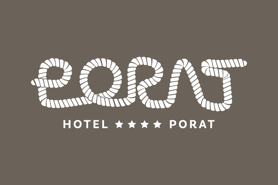Vizualni identitet Hotela Porat dizajn logotipa neum