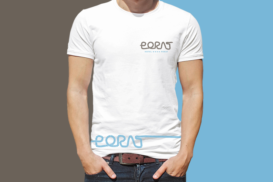 Vizualni identitet Hotela Porat dizajn majice