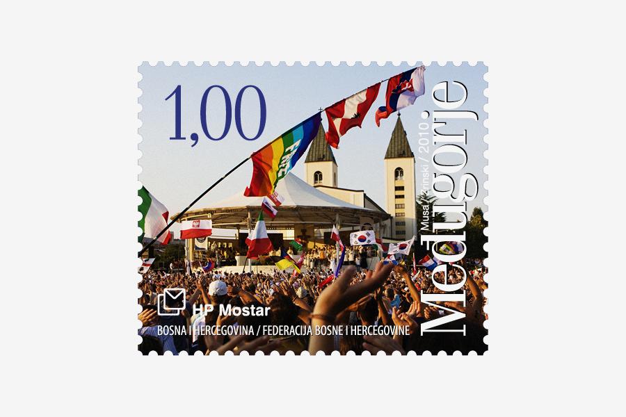 Dizajn poštanske marke Međugorje 2010, ht mostar