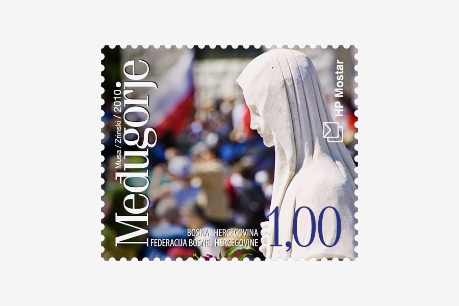 Dizajn poštanske marke Međugorje 2010, agencija shift mostar