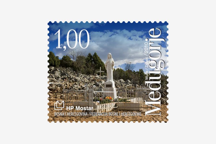 Dizajn poštanske marke Međugorje 2010