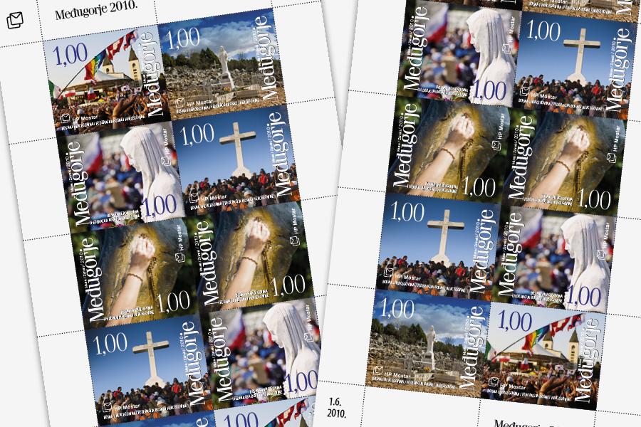 Dizajn poštanske marke Međugorje 2010, agencija shift mostar, ht pošta