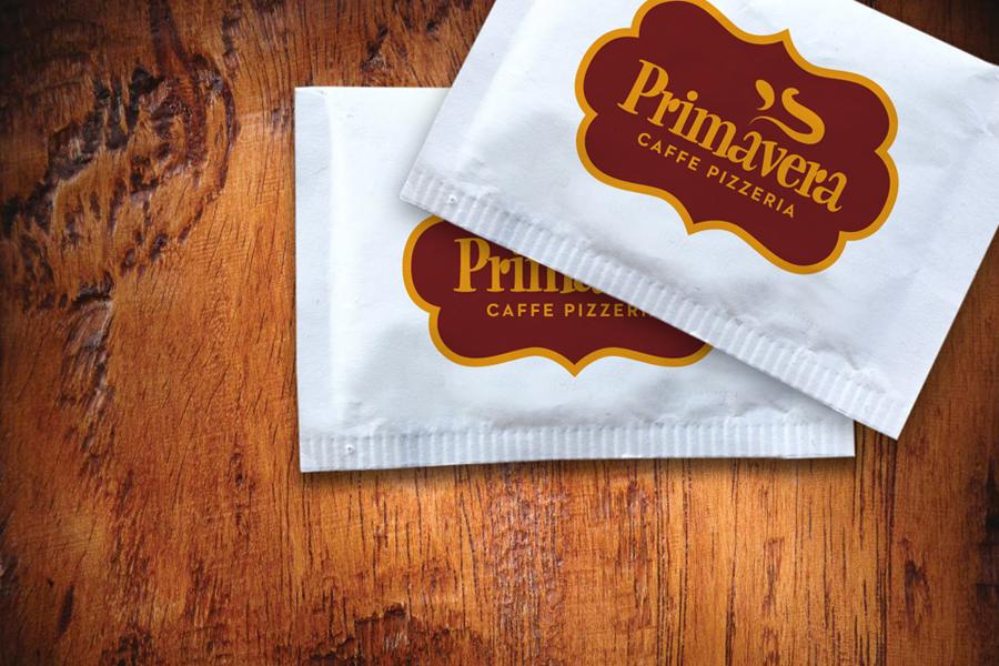 vizualni identitet primavera pizzerija vrećice za šećer