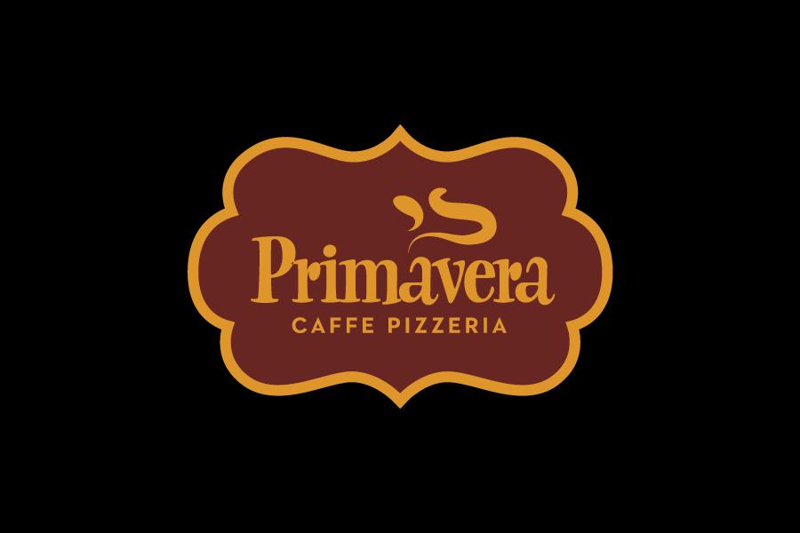 vizualni identitet primavera pizzerija  negativ logotipa
