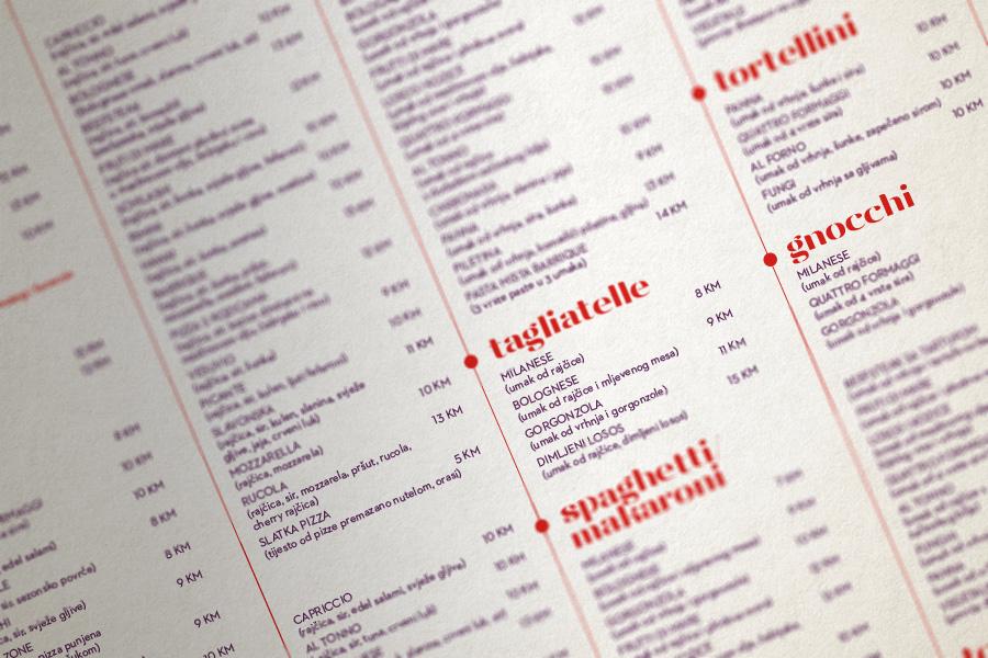 Vizualni identitet restorana Barrique, Široki Brijeg, jelovnik, shift grafički dizajn