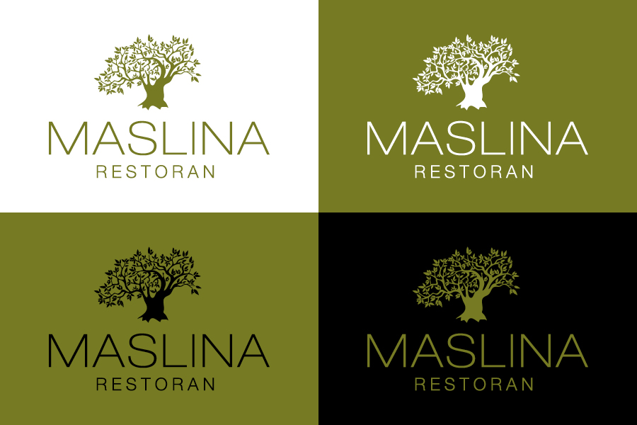 restoran maslina dizajn logotipa shift agencija mostar