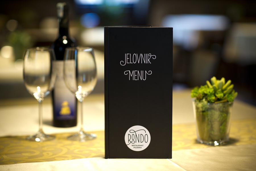 Vizualni identitet restorana Rondo, dizajn jelovnika