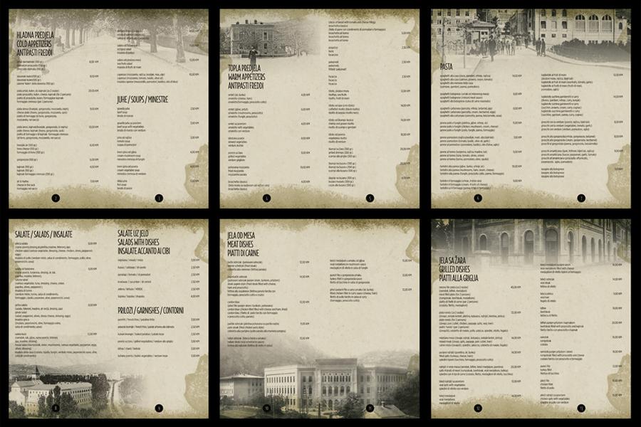 dizajn jelovnika restorana, kreativna agencija shift