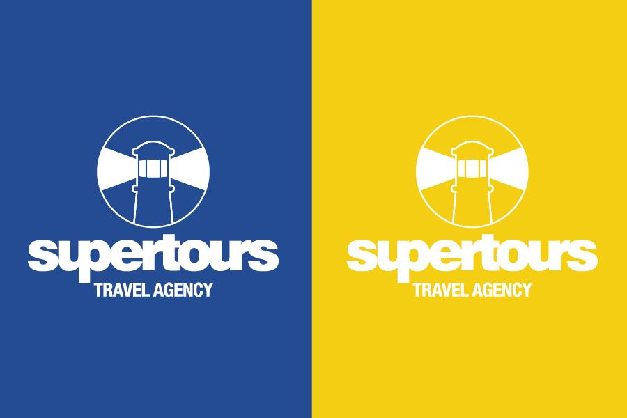 Vizualni identitet turističke agencije supertours dizajn logo