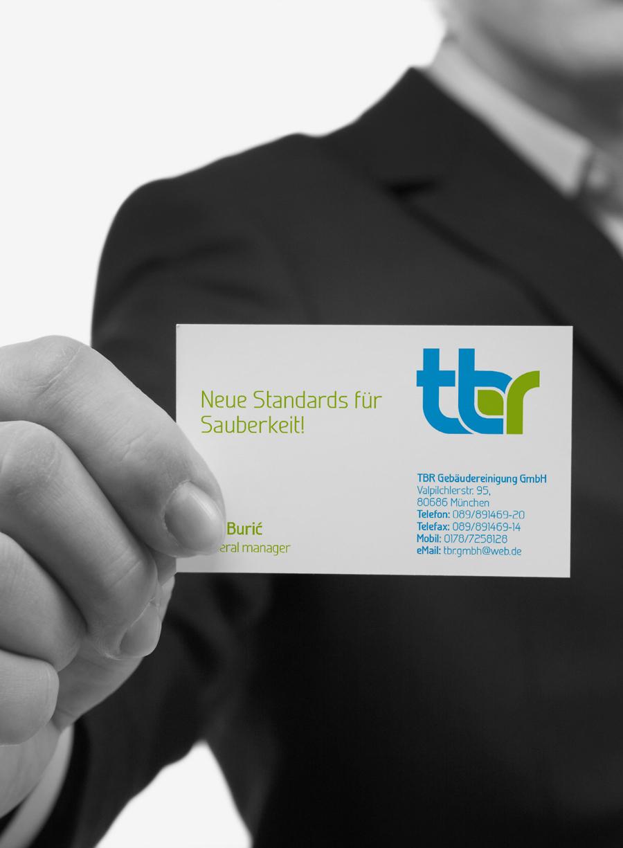 Vizualni identitet TBR GmbH, München, dizajn vizitke