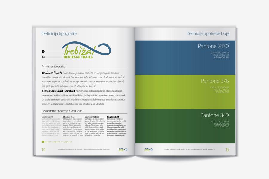 vizualni identitet THT projekta  dizajn kataloga agencija shift