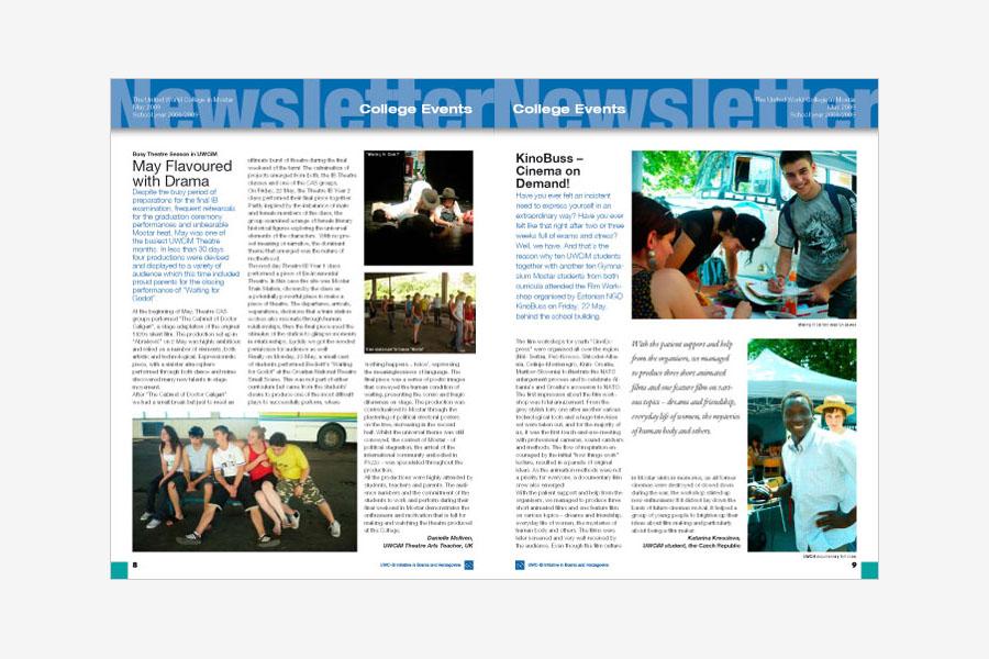 dizajn newsletter UWC shift agencija grafički dizajn mostar