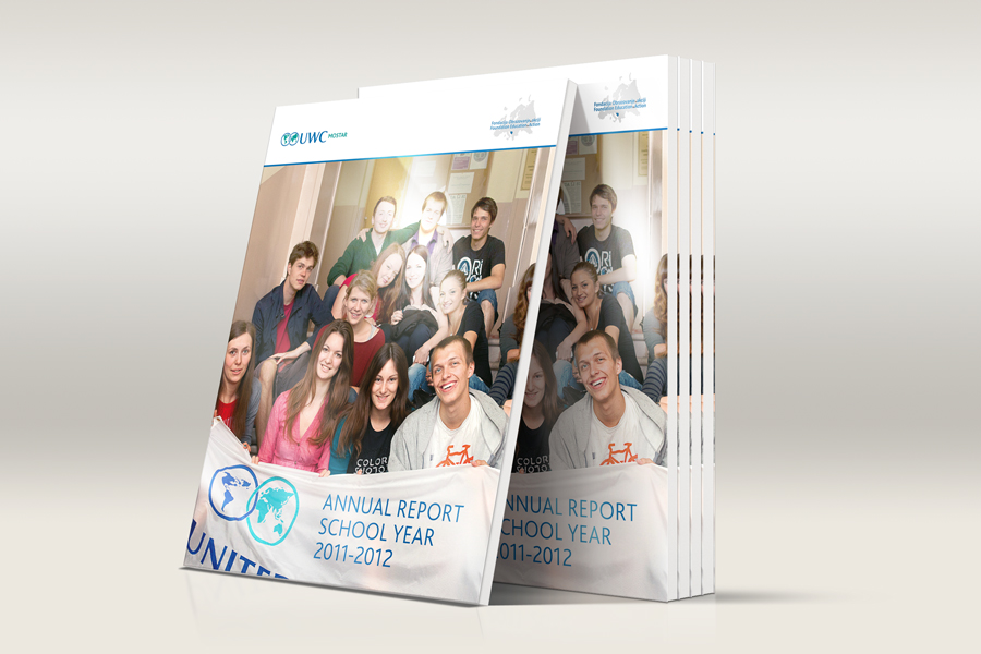 Dizajn Godišnjeg izvješća UWC, koledž ujedinjenog svijeta, layout