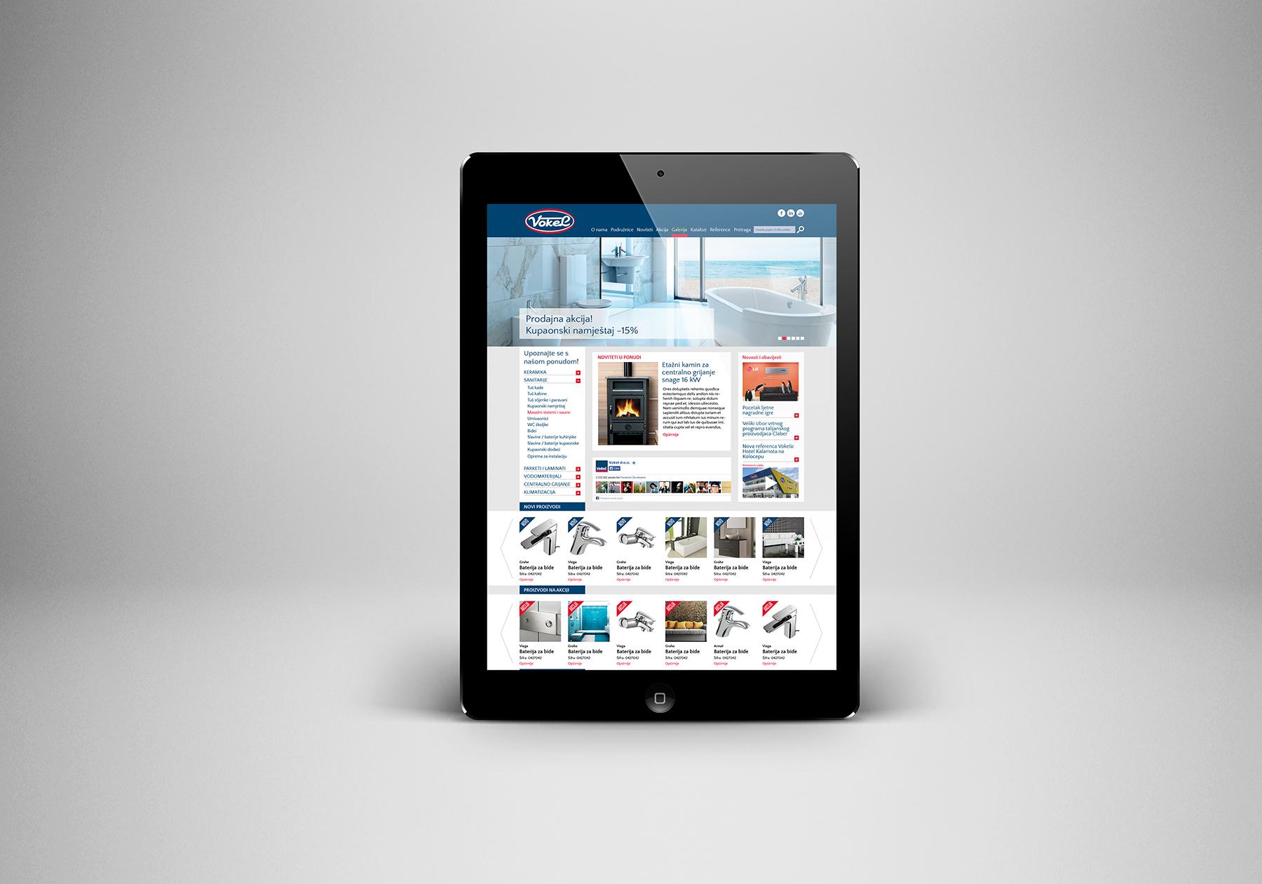 Website development for Vokel Company