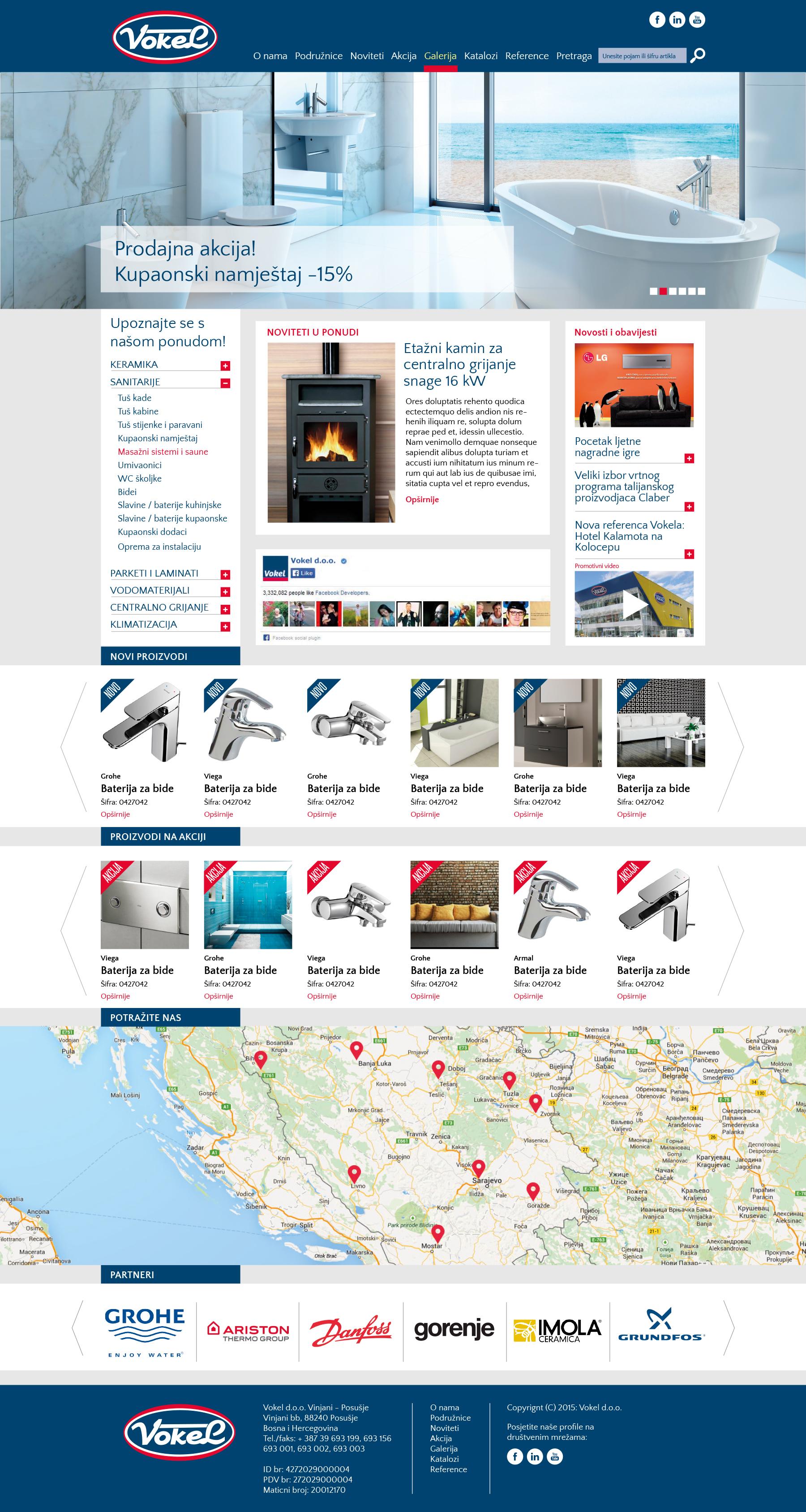 Dizajn i izrada web stranice tvrtke Vokel