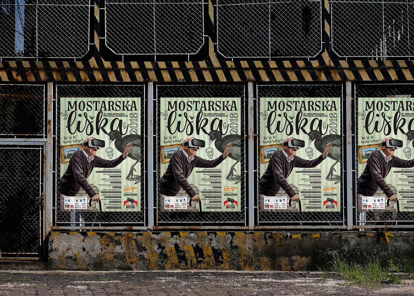 Dizajn vizualnog identiteta i promotivne kampanje mostarskog festivala komedije