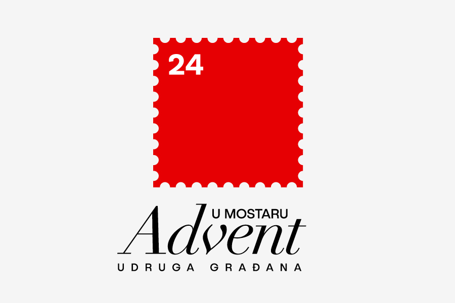Vizualni identitet za Advent u Mostaru, dizajn logotipa, shift