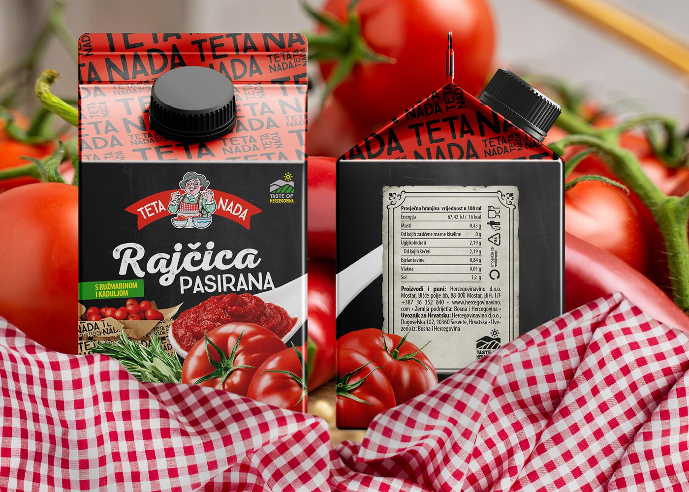 """Brand identitet i dizajn pakiranja """"Teta Nada"""" linije proizvoda"""